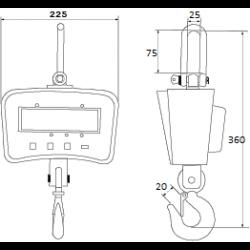 Весы крановые CAS Caston I (THA), НПВ 500 кг